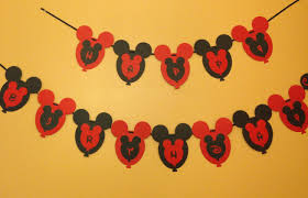 Mickey Mouse Flag Mickey Mouse First Birthday Party Eatnapplay