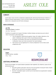 Updated Resume Examples Get Back In The Job Market In 2016 Write Your Winning 2016 Resume U2022