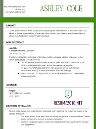 update resume format get back in the job market in 2016 write your winning 2016 resume u2022