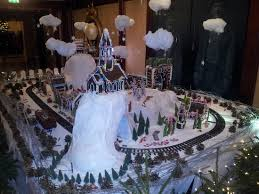 Some Christmas Decorations - some christmas decorations with train set out side their museum