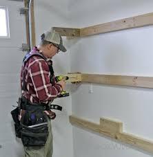 Garage Shelves Diy by Style Garage Storage Shelveswall Mounted Shelving Plans Wall