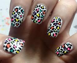 multi coloured leopard print nail tutorial youtube