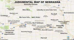 Nebraska On A Map Judgmental Maps Nebraska By Beran F Copr 2017 Beran F All