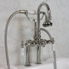 furniture home roman waterfall tub faucet hand shower brushed