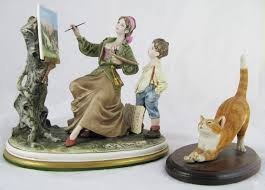 capo di monte ornament of painting with boy signed