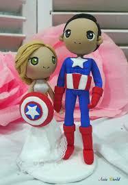 captain america cake topper wedding cake topper captain america wedding clay doll