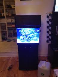 stunner led aquarium light strips my 29 bio cube custom hood and led set up reef2reef saltwater