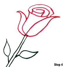 Pencil Sketch Of Flower Vase Coloring Page Cute Simple Rose To Draw Drawings The Very