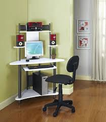 over desk storage corner white computer desk designs for home and storage and gray fabric wheeled