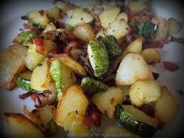 cuisiner courgettes poele poêlée pommes de terre courgettes et magret à l actifry
