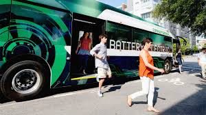 party bus outside meet the electric bus that could push every other polluting bus off th