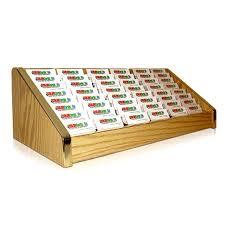 Business Card Racks 48 Pocket Business Card Holder Gold Trim 48 Pocket Business Card
