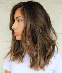 light brown highlights on dark hair fascinating amazing medium length hairstyles u shoulder haircuts
