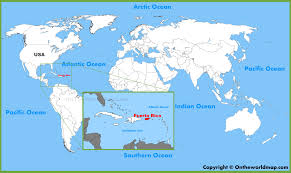 World Map Caribbean by Puerto Rico Location On The World Map