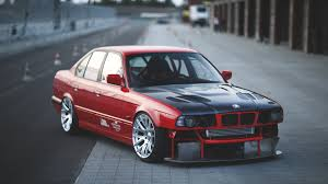 sports cars bmw download wallpaper 1920x1080 bmw e34 red cars side view