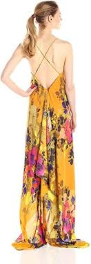 nicole miller crystal ls nicole miller maxi dress angelina satin printed high low hem