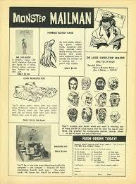 topstone halloween mask ads mad monsters magazine 1963 blood
