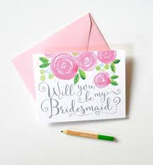 Bridesmaid Invitation Cards Pretty Will You Be My Bridesmaid Card By Michelle Mospens
