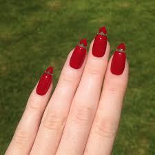 floating heart red stiletto nails nail designs nail art nails