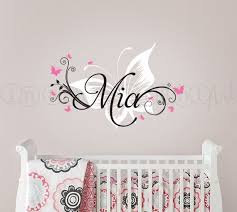 room ideas name written on wall butterfly wall decals for