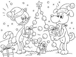 25 free christmas coloring pages images
