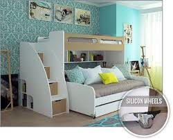 Twin Bed As Sofa by Twin Bunk Bed With Sofa Table And Trundle Bel Mondo