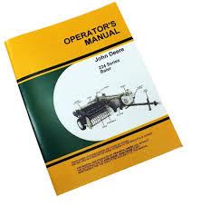 john deere 224 224t 224ws baler operators manual knotter billhook