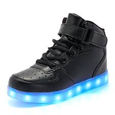 light up shoes charger bybetty unisex men s women s high top usb charger led lights 7