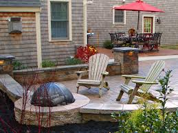 backyard landscaping with pit 66 pit and outdoor fireplace ideas diy network made