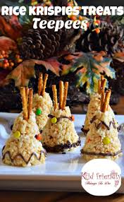 thanksgiving american rice krispies teepee treat for a kid friendly thanksgiving