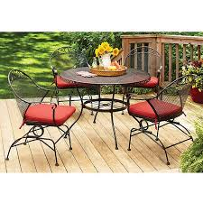 Walmart Patio Table And Chairs Better Homes And Gardens Clayton Court 5 Patio Dining Set