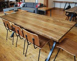 Bar Height Conference Table Reclaimed Wood Commercial Table Bar Height Bistro