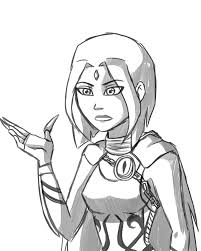 raven young justice style sketch by lineacake on deviantart