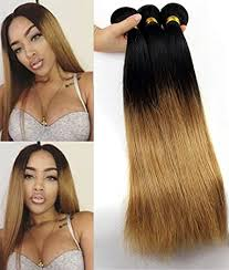 ombre hair weave african american amazon com babe hair straight blonde ombre 7a brazilian virgin