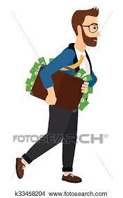 clipart uomo clipart uomo con valigia pieno di soldi k33458204 cerca