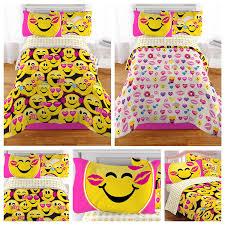 twin girls bedding set amazon com emoji complete 4 piece girls bedding set twin home