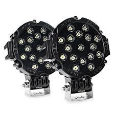 nilight led light bar 2pcs 7inch 51w spot led
