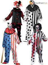 Halloween Clown Costumes Scary Mens Deluxe Killer Clown Costume Halloween Horror Scary Circus