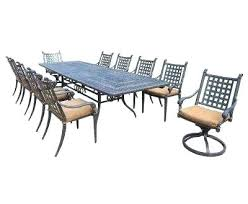 Expandable Patio Table Extendable Outdoor Dining Table Extension 7 Dining Set