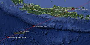 Space Debris Map Spacex Rocket Parts Rain Down Over Indonesia U2013 Falcon 9 U2013 Jcsat 16