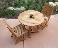 Round Wooden Outdoor Table Tempurpedic Computer Chair Trendy Staples Burlston Luxura