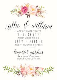 floral invitation template smart tag me