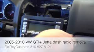 how to remove radio vw jetta gti r32 2005 2010 stereo repair diy