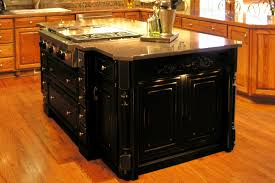 stylish black kitchen island with granite top u2014 railing stairs and