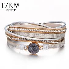 woman charm bracelet images Vintage stone crystal charm bracelets bangle for woman men jpg