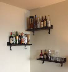 Lowes Wall Shelves by Diy Corner Bar Shelves And Brackets From Lowe U0027s Anniversary Gift