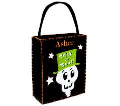 trick or treat in style this halloween with a skeleton candy bag