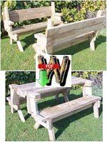 convertible bench table woodworking plans and information at