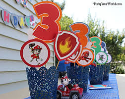 Party Centerpieces Paw Patrol Party