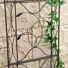 metal garden trellis arch black steel vine rose plant support